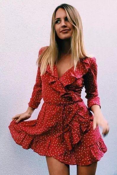 Новинка 2017 красное платье V воротник Silk юбка одеяло звездкупить в магазине YHY StoreнаAliExpress