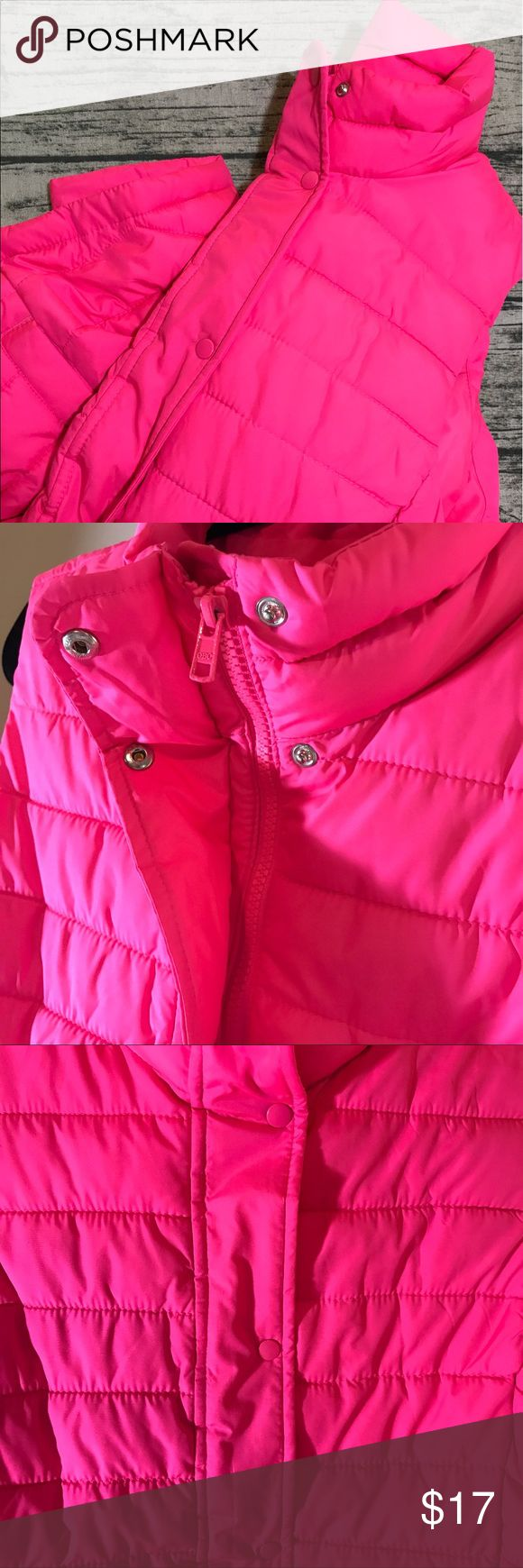 GAP Hot Pink Vest GAP Hot Pink Vest. Worn once, everything in good condition. Both zips and buttons, has pockets. GAP Jackets & Coats Vests