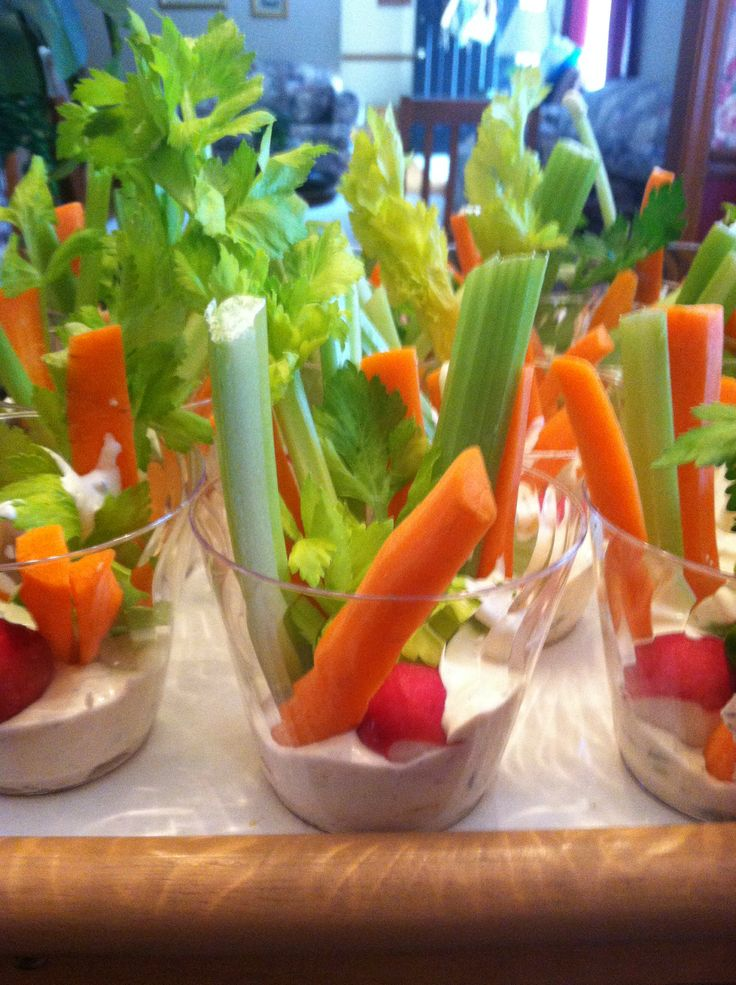 Veggies and dip for Jungle Book baby shower