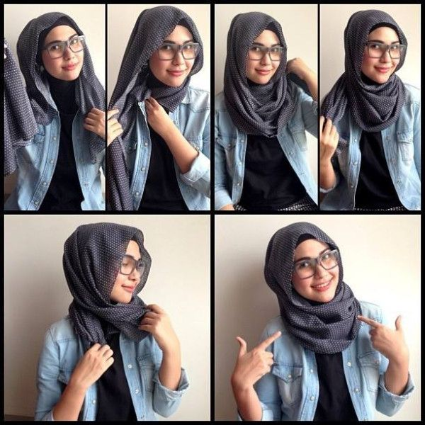hijab styles for Girls with glasses