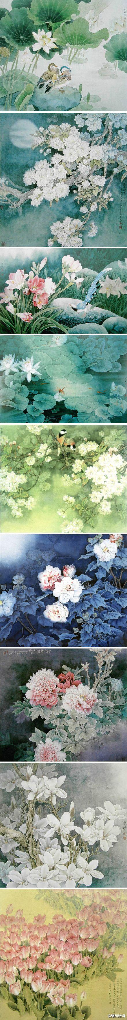 Chinese brush paintings