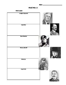 World War 2 Study Guide - This 6 page study guide can be used for a variety of purposes in your classroom: unit review, unit assessment, group activity, etc.
