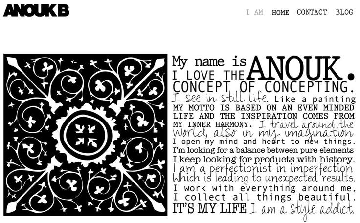 Beautiful website design AnoukB