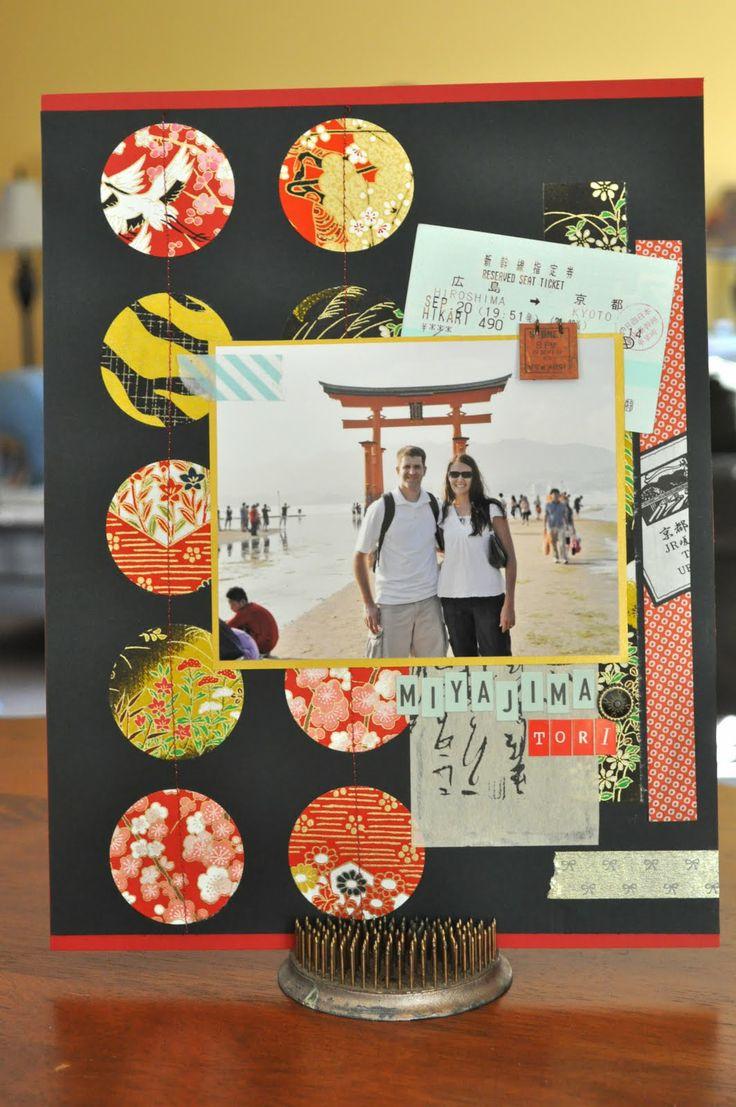 Vietnam scrapbook ideas - Japan Scrapbook Layouts Google Search