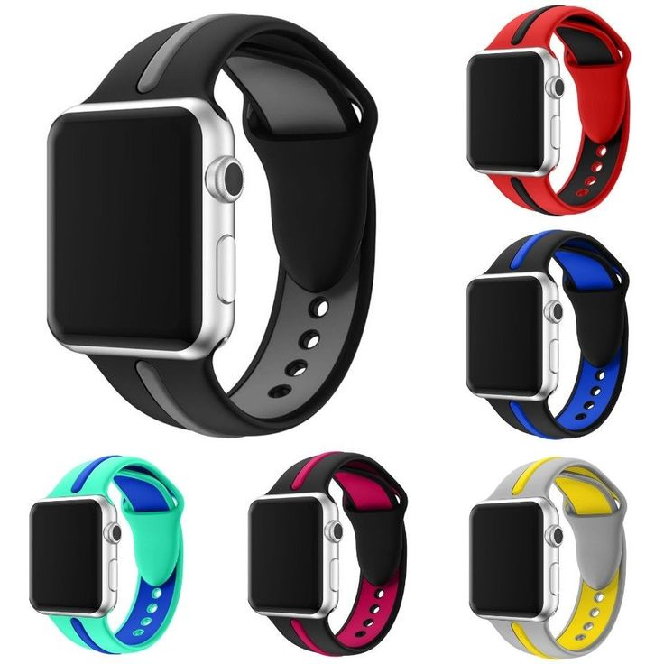 Luxury Replacement Watch Band Sports Silicone Bracelet Strap For Apple iWatch #CRESTED #Luxury