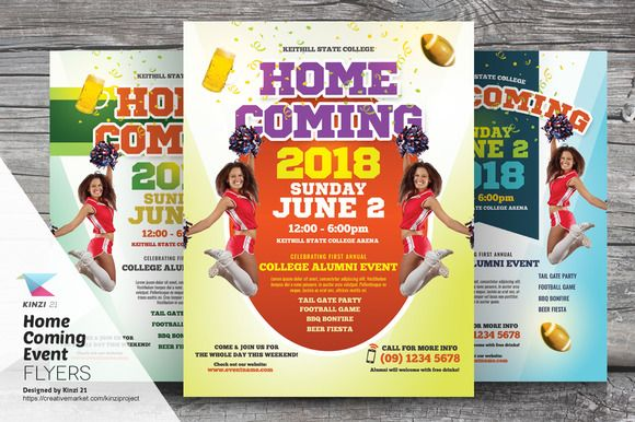 Homecoming Event Flyer Templates By Kinzi On Creativemarket
