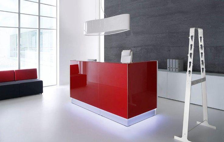 Red Linea reception desk