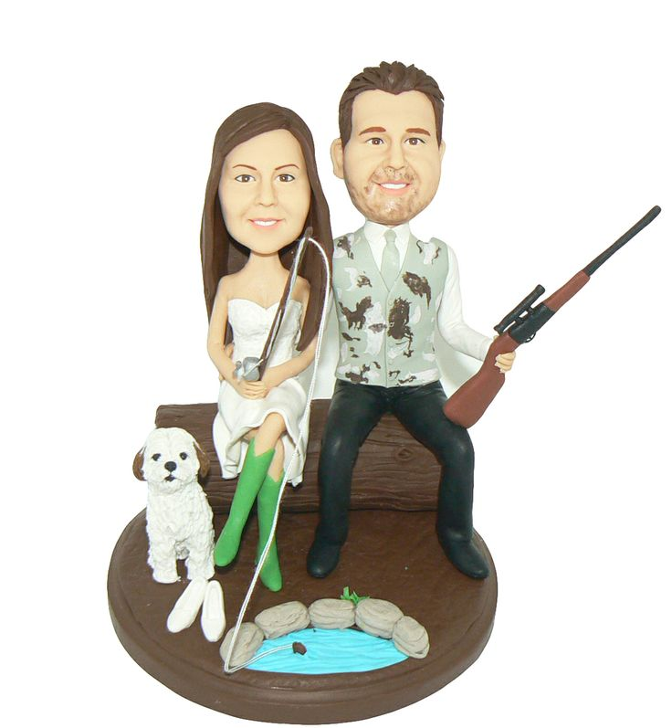 redneck deer fishing hunting wedding cake toppers 19 best wedding ideas images on 19131