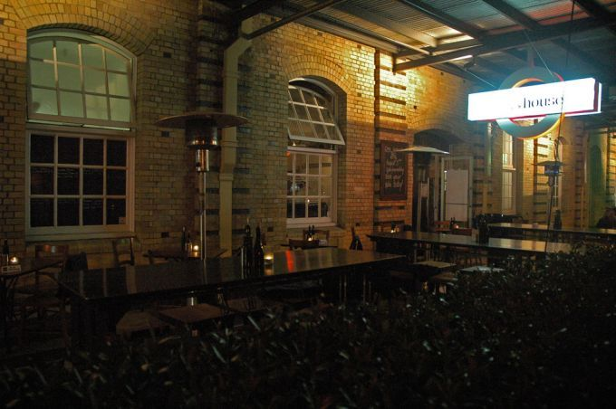 Outside seating area of Claret House Wine Bar in Brisbane's Teneriffe