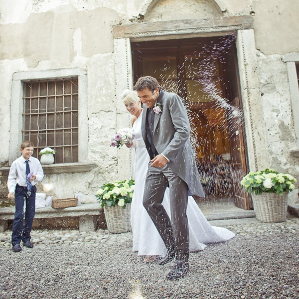 Joyful wedding photo in Milan by Daniele Del Castillo | via junebugweddings.com