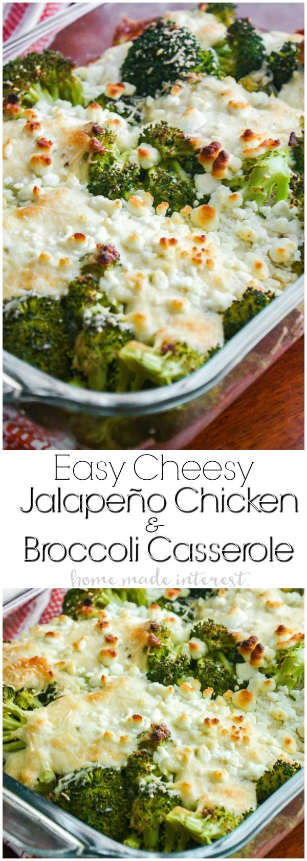 Low Carb Jalapeno Chicken and Broccoli Casserole