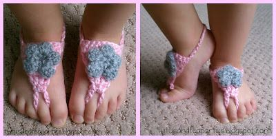 Too cute. Barefoot sandals.