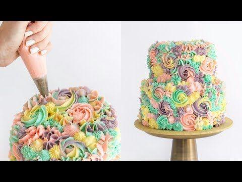 Pastel Rainbow Swirl Cake - CAKE STYLE + JORD GIVEAWAY - YouTube