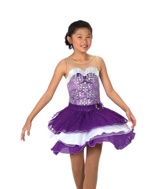 New Jerrys Competition Skating Dress 120 Dancing Violet Made on Order | eBay