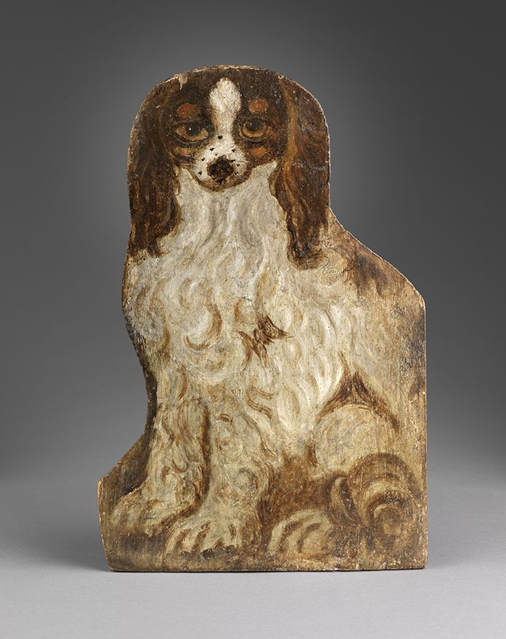 Robert Young Antiques Folk Art Collection- Dummy Board of a Dog c.1820 #AntiqueFolkArt