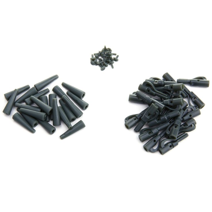 20 Sets/Lot Fishing Accessories Safety Lead Clips Carp Fishing Tackle Tools Equipment with Pins Tail Rubber Tubes Wholesale