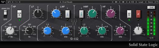 SSL G-Equalizer EQ292 from Waves #audiounits #rtas #vst #ilok2