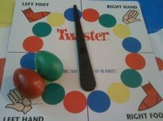 A fun idea for a game to play with older adults in a nursing home or memory support... Requires a twister mat!