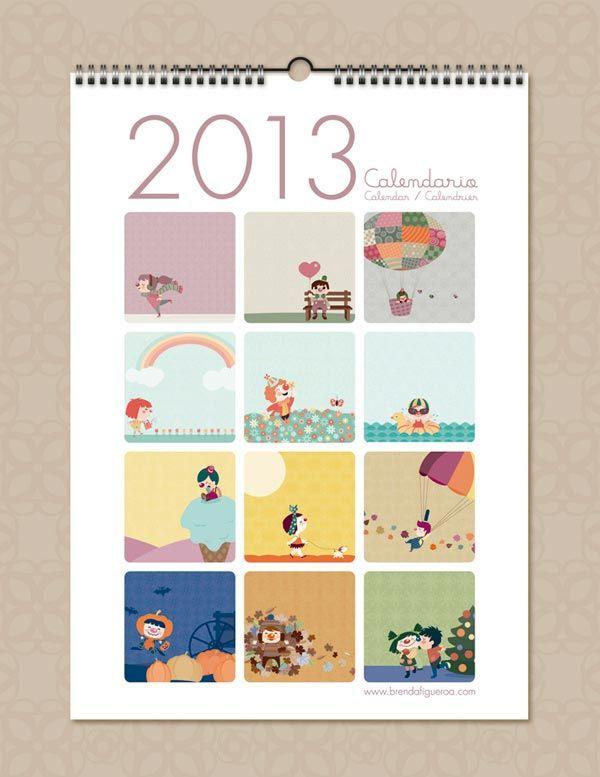 desain kalender 2013