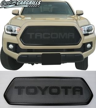 Mesh, Bezel, and Rounded Letter Grill For 2016 - 2017 Tacoma