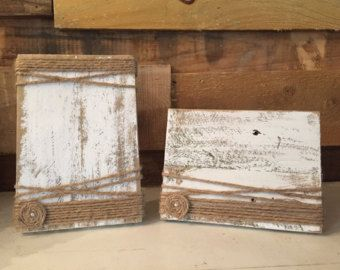 Rustic Picture Frame 4x6 Picture Frame Painted by FancySchmancy3