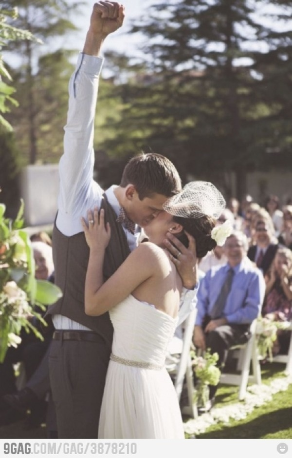 I really hope my husband feels this way after our wedding. Definietly a must photo!