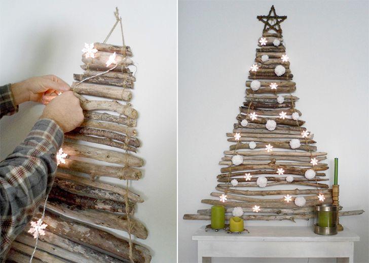 Stick Christmas tree DIY Albero di Natale con legnetti #faidate