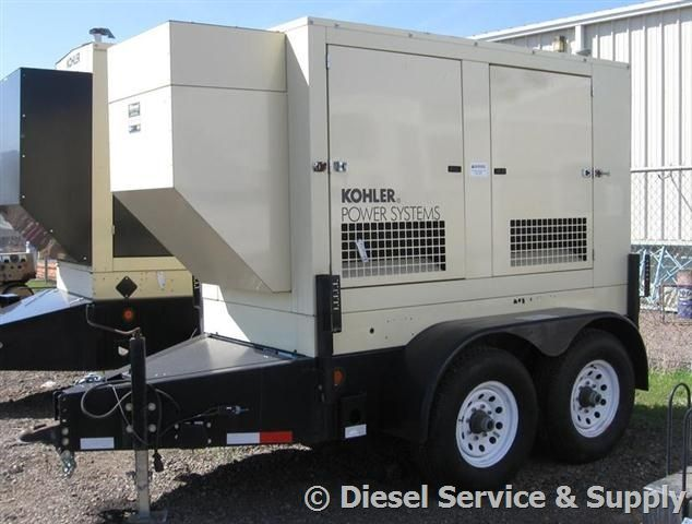 Kohler 50 kW Portable Diesel Generator 133.7 Hours, Sound Attenuated Enclosure Trailer Mounted #usedgenerators #dieselgenerators #industrialgensets