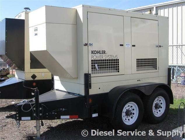 Kohler 50 kW Portable Diesel Generator 133.7 Hours, Sound Attenuated Enclosure Trailer Mounted #usedgenerators #dieselgenerators #industrialgensets