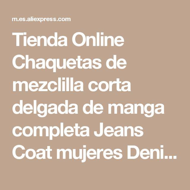 Tienda Online Chaquetas de mezclilla corta delgada de manga completa Jeans Coat mujeres Denim abrigos Vintage Washed cremalleras chaquetas femeninas moda Casaco   Aliexpress móvil