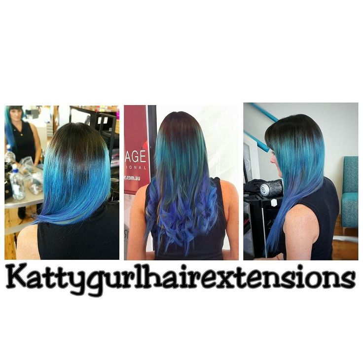 Multi dimensional Blue Tapein Extensions that in different lighting have different tones. Stargazer colours as always. #ultrapremium #tapein #hairextensions #kattygurlhairextensions