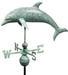 Blue Verdi Dolphin Weathervane