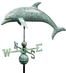 Blue Verdi Dolphin Weathervane