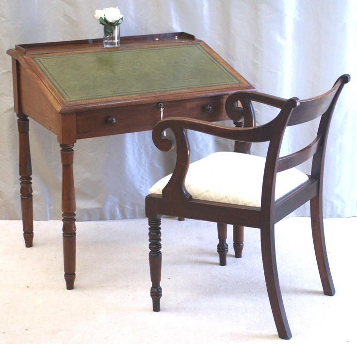 Antique Writing Desk By Thomas Mash Of London C1830 Stamped In Two Places
