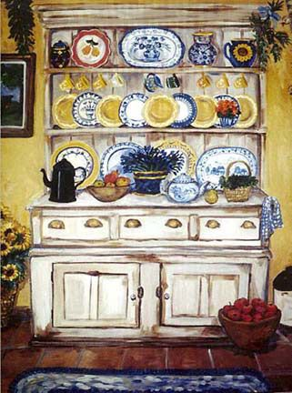 "Suzanne Etienne ~ ""Hutch with Lavender"""