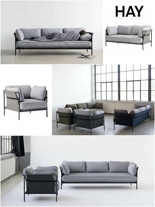 NEU im GOODFORM Online-Shop: Die flexiblen und modernen Sofas von den Designern Ronan & Erwan Bouroullec für den Hersteller HAY. // #hay #can #sofa #bouroullec #furniture #design #goodform
