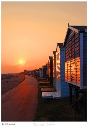 More Beach Huts in Whitstable first thing in the morning. Maybe I should try and sleep in more! www.nwfineart.co.uk