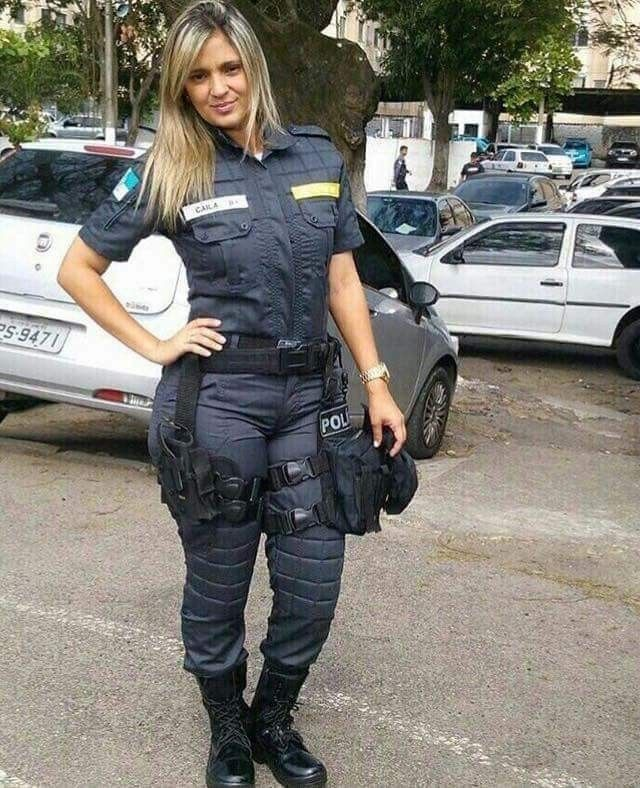 sexy real female cop