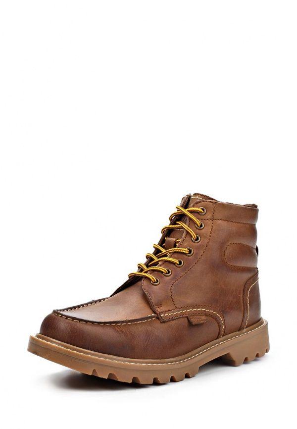 Ботинки Jack & Jones мужские. Цвет: коричневый. Материал: натуральная кожа. Сезон: Осень-зима 2014/2015. С бесплатной доставкой и примеркой на Lamoda. http://j.mp/1pjOegn