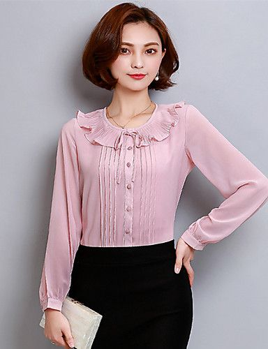 Women S Formal Daily Casual Cute Spring Summer Blouse Vintage
