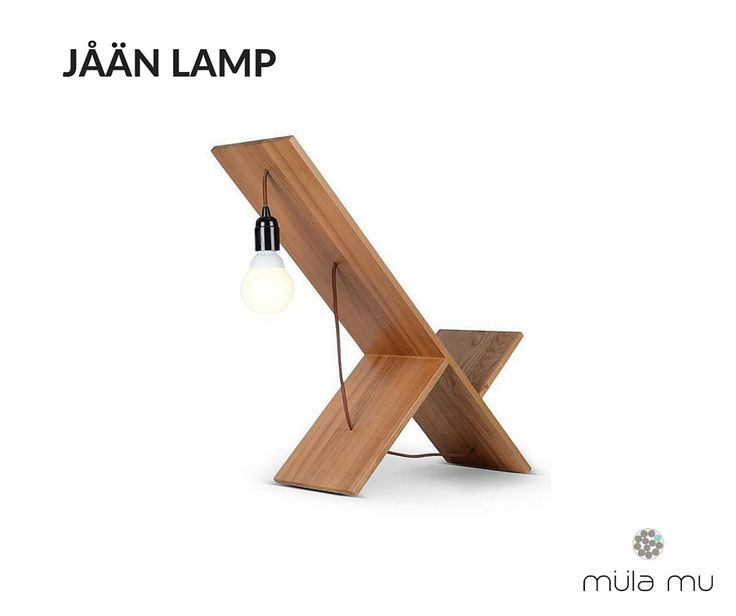 The JAAN LAMP is the closest you would get to a playground seesaw in the design world. This unique piece boasts several solid wooden planks that serve as the base for the electrical wires and light bulb. Basic yet ingenious, this table lamp is a work of art.  Dimension: 700 x 250 x 700 mm  *Price does not include light bulbs. http://www.mulamu.com/product/jaan-lamp/