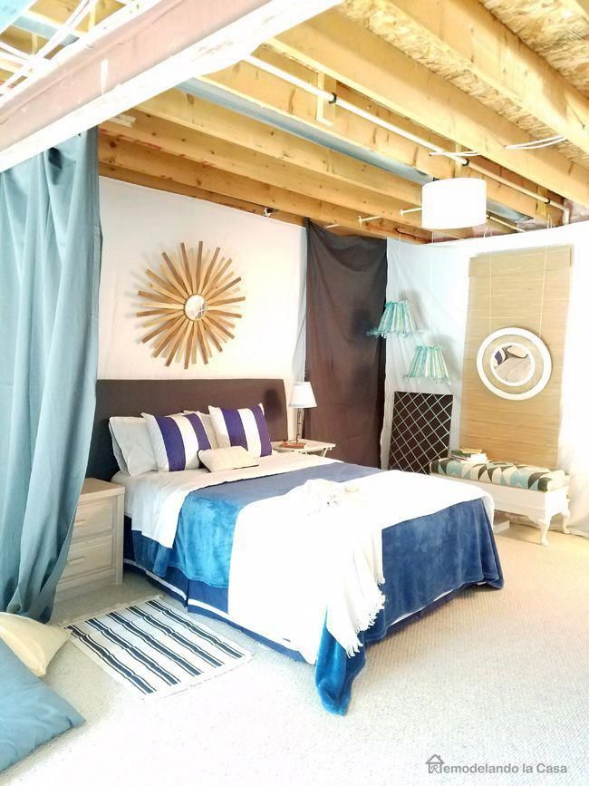 tips and ideas on how to set up a bedroom in an unfinished basement rh in pinterest com