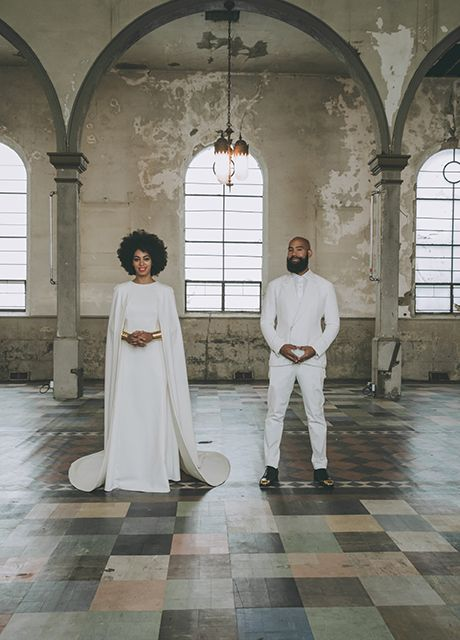 All The Outfits From Solange's Epic Wedding Weekend #refinery29  http://www.refinery29.com/2014/11/78102/solange-knowles-wedding-outfits#slide5  Here's that Kenzo wedding dress, sure to set a million Pinterest accounts ablaze.