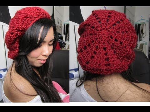 DIY:  Patched/Pyramid Beret (Crochet Tutorial)  she doesn't use the correct terms for any of the stiches but it's a cute hat, so I thought I'd save it for later.
