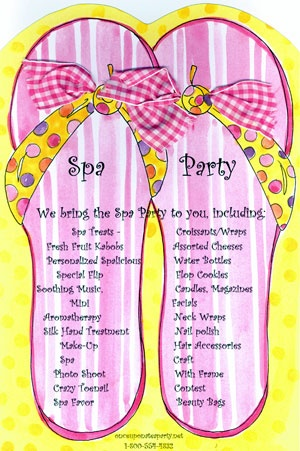 Invite Idea Partys For Girls And Teen Spa S Sleepover