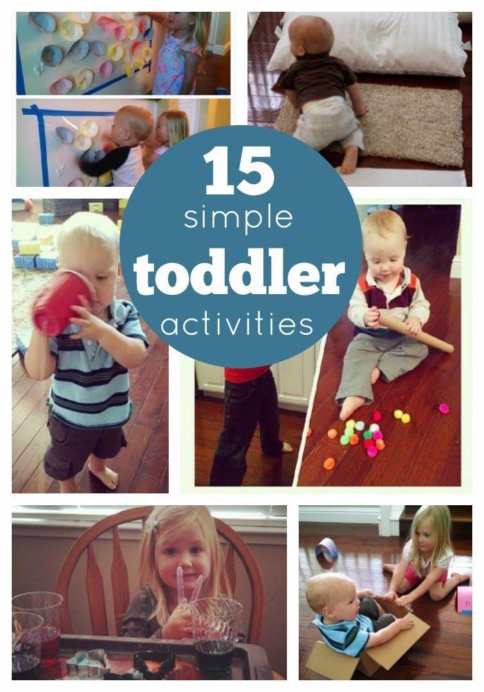 15+ Simple Toddler Activities | Best of Toddler Approved | Pinterest | Toddler activities, Activities and Infant activities