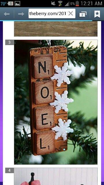 Christmas scrabble craft