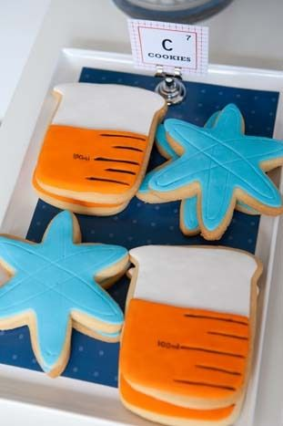 Fun decorated cookies at a Mad Scientist Party #madscientist #partycookies