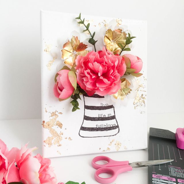 Flower Punch Board Canvas by Tessa Buys for We R Memory Keepers