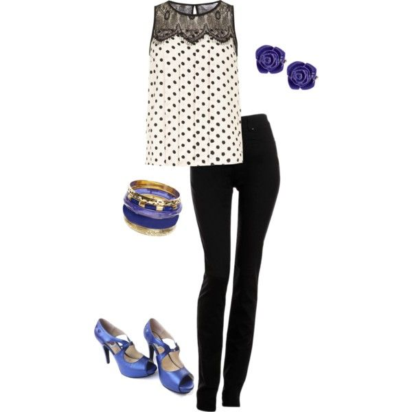 """Blue outfit"" by eriarango on Polyvore"